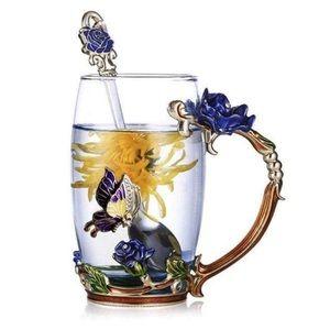 Glassyfi •2 NEW• Handmade Enamel Cups